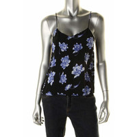 Impulse Womens Floral Print Adjustable Straps Tank Top