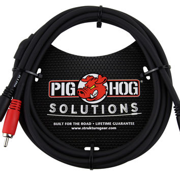 Pig Hog Solutions Stereo Breakout Cable, 3.5mm to Dual RCA