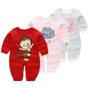 Newborn Baby Rompers Overalls Baby Girls Boys Clothes New Brand Baby Gift Infant Cotton Cartoon Underwear Baby Crawling Costume
