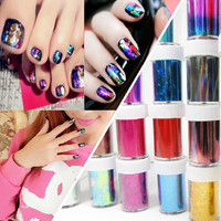 15pcs Mix-Color Roll Nail Art Transfer Foil Set Nails Tip decal DIY Decorations paint fingernails