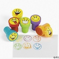 24 pc Goofy Smile Silly Face Stamps [Toy]
