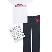 Arizona Cardinals V-neck Tee & Boyfriend Pant Gift Set - PINK - Victoria's Secret