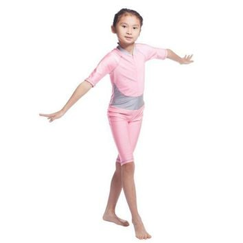 ONETOW Hot Muslim Arab Girls Modest Swimwear Kids Swimsuit Islamic Swimming Costume W012