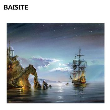 BAISITE DIY Acrylic Painting By Numbers Hand Painted Canvas Modern Wall Picture For Living Room Home Decor Wall Art H356