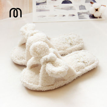 Millffy fluffy slippers indoor plush slippers cute female woman flip flop kawaii slipper shoes floor slippers