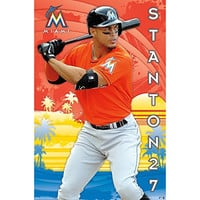 Trends International Miami Marlins G Stanton 15 Poster, 22 by 34""