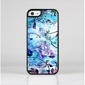 The Black & Bright Color Floral Pastel Skin-Sert Case for the Apple iPhone 5c