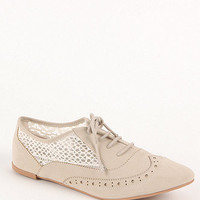 Qupid Lace Inset Oxford Flats at PacSun.com