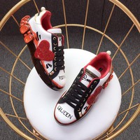 Dolce & Gabbana D&g Portofino Sneakers With Big Red Heart - Best Online Sale