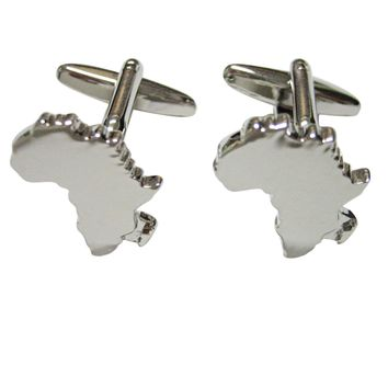 Africa Map Shape Cufflinks