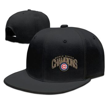 Chicago Cubs 2016 World Series Champions Locker Room Breathable Unisex Adult Womens Fitted Hats Mens Flat Brim Hats