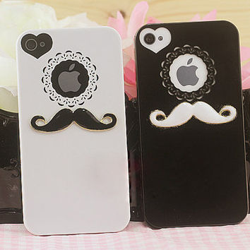 2PCS/Set  Handmade white and black Lovers case by supplymaterial