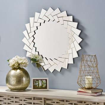 Antares Glam Sunburst Wall Mirror by Christopher Knight Home - Silver - N/A | Overstock.com Shopping - The Best Deals on Mirrors