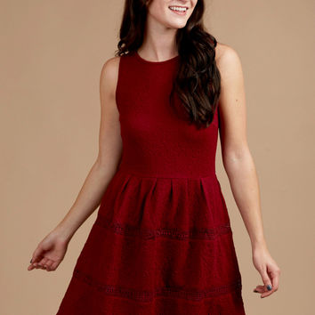 Altar'd State Rosa Eden Dress - Romantic Rouge - Look Books