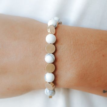 Memory of Summer Bracelet - Howlite