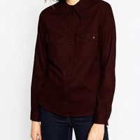 ASOS Fitted Twill Shirt