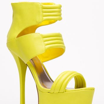 Qupid Neon Yellow Quilted Platform Heel @ Cicihot Heel Shoes online store sales:Stiletto Heel Shoes,High Heel Pumps,Womens High Heel Shoes,Prom Shoes,Summer Shoes,Spring Shoes,Spool Heel,Womens Dress Shoes,Prom Heels,Prom Pumps,High Heel Sandals