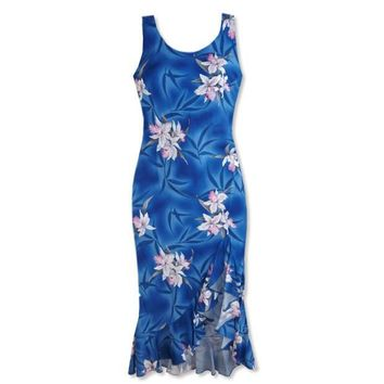 poipu blue hawaiian naniloa dress