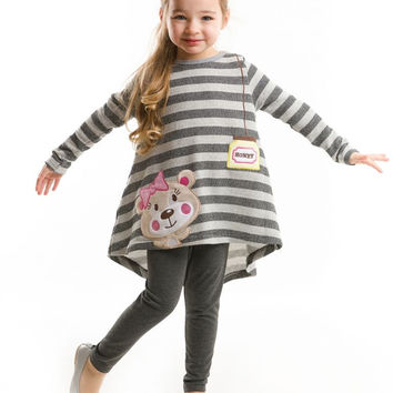 Deno Kids Fall 2016 Honey Jar Tunic & Leggings Girls Size:2Y,3Y,4Y,5Y,6Y,7Y, 8Y