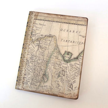 Travel Journal, Large Travel Notebook, World Map Journal, Travel Themed Wedding Planner or Wedding Decor, Wanderlust Journal