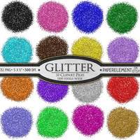32 Digital Clipart Glitter Piles: Glitter New Year Clipart - New Year's Eve Party Printable Clip Art Glitter - Instant Download