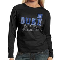Duke Blue Devils Ladies Shinedown Spirit Long Sleeve T-Shirt - Black