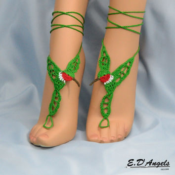 Barefoot sandals | crochet | pattern | gypsy | HUMMINGBIRD