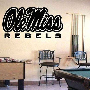 NCAA Mississippi Rebels Logo Emblem Wall Art Sticker Decal (405)