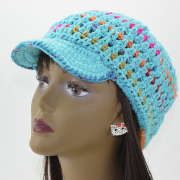 Crochet Newsboy Hat, Womens Hat, Womens Accesories, Brimmed Beanie, Fall Fashion