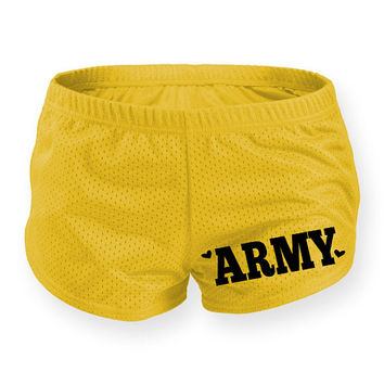 Military workout shorts. Milso workout clothing. AtEaseDesigns usmc Navy army uscg usaf