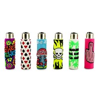 Clipper Silicone Sleeve Lighter Fun (Pack of 2 or 4)