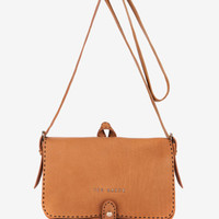 Leather stab stitch bag - Tan | Bags | Ted Baker