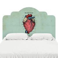 The Human Heart Headboard Decal