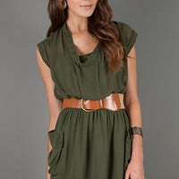 Shoot Casual Green Dress