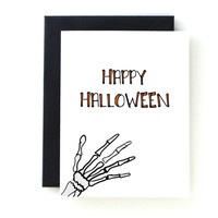 Happy Halloween Skeleton Card by Yellow Daisy Paper Co.
