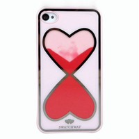 Love Heart-Shaped Hourglass Hard Cover Case For Iphone 4/4s