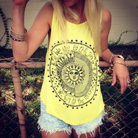 new fashion Summer Tops lady Women Sexy Sun Printed Blouse Sleeveless Vest Tee Shirt Casual Tank Tops anne