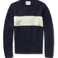 Undercover Striped Mohair-Blend Sweater | MR PORTER