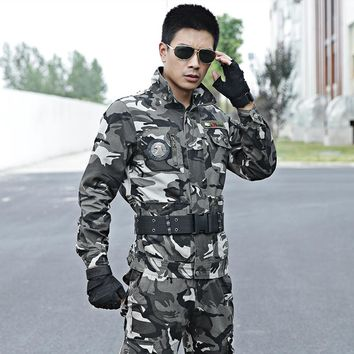 Men's Camouflage Suit Hunting Clothes Army Military Multicam Outfit Tactical Jackets+pants US Combat Uniforms Ghillie Costume