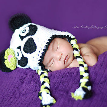 Crochet Pattern for Panda Bear Hat - 5 sizes, baby to adult - Welcome to sell finished items