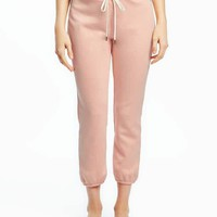 French-Terry Capri Sleep Joggers for Women | Old Navy
