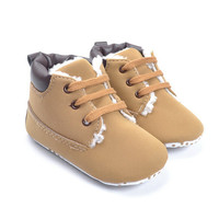 Baby Unisex Solid Winter Shoes Newborn Kids Prewalker Christmas Style First Walker Infant Toddler Keep Warm Baby Boot