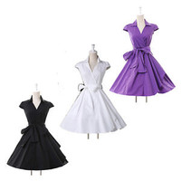 ❤FAST ❤New Women's Clothing Housewife Vintage/Retro 40s EVENING Dress