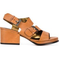Robert Clergerie Chunky Heel Buckled Sandals - Hu's Shoes - Farfetch.com