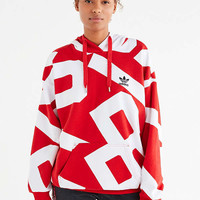 adidas Originals Oversized Graphic Hoodie Sweatshirt | Urban Outfitters