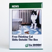 Free Thinking Cat Shits Outside The Box Magnet