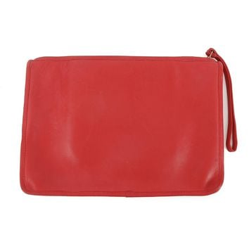 Coach Red Leather Clutch