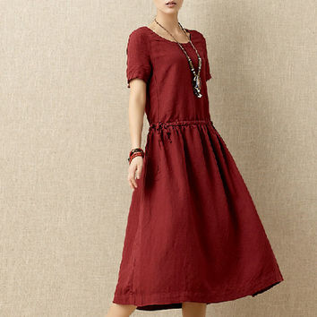 Women summer dress long dress (D1034)