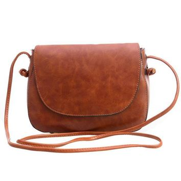 Small Faux Leather Front Flap Crossbody Shoulder bag