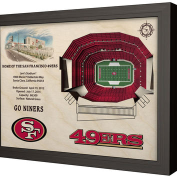 NFL San Francisco 49ers Football 3D Stadium View Wall Art Levi's Stadium
